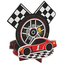 RACING PARTY SUPPLIES DECORATIONS RACE CAR CHECKERED FLAGS TABLE CENTREPIECE