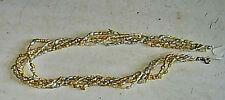 Süßwasser grau gelb 5-reihig Perlen Kette  und Si- Verschluß Länge 46cm