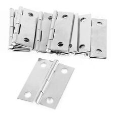 "10pcs Cabinet Drawer Window Door Stainless Steel Butt Flat Hinges 1.5"" Length"