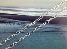 "10PCS Silver plated Oval/ring chain necklaces 24"" #20794"