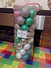 Christmas Tree Decorations MIXED colour Baubles 50 in a pack ****NEW*****