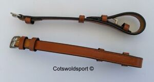 CS English Leather Cheek Pieces only for bridle  TAN / NEWMARKET   COB billet