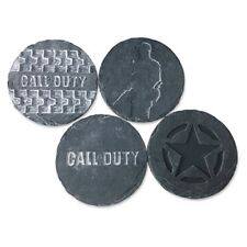 New listing Call of Duty Stone Coaster Set - 4pk, Grey Activision Protect Furniture From .