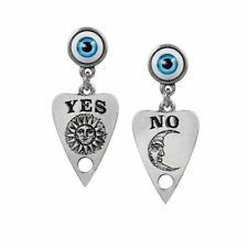 Alchemy Gothic Ouija Planchette Pewter Drop Earrings - Eye Seance England