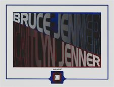 BRUCE JENNER/CAITLYN JENNER worn used CLOTHING PIECE swatch owned Kardashians