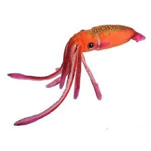 """Wild Republic WR Squid Orange 12"""" Realistic Soft Plush Toy"""