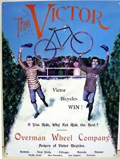 antique bicycle Victor Bicycles SIGN Overman Wheel Co.