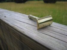 Beautiful 1922 Gillette New Improved Open Comb DE Safety Razor (Serial#248345B)