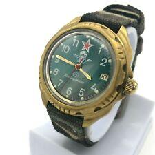 VDV Komandirskie Paratrooper VOSTOK Green Vintage Watch Military Strap Date GIFT