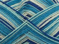 100 Gram Magic Sock Yarn #45742 Nautical Blue  Purple White Superwash Wool Nylon