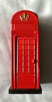Red Vintage Telephone Box British Phone Booth Replica & Pencil Sharpener (Metal)