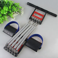 Chest Expander Spring Resistance Hand Grip Exerciser Workout Removable 5 Springs