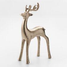 "2pc Handmade Decorative Figurine Reindeer - Gold - 7.5"" x 4"" - Threshold - NWT"