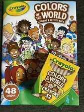 multicultural crayons And Coloring Book