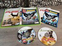 LEGO Batman: The Videogame / Pure (Microsoft Xbox 360, 2009) GAME COMPLETE CIB