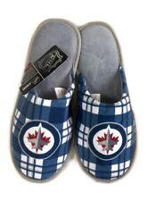 Winnipeg Jets Nhl Ice Hockey Dual Check Logo Slippers : Medium