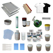 Screen Printing Materials Kit Hand Tools Pack Mating with 1 Color Press Printer
