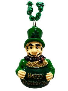 Leprechaun Pot Of Gold Shamrock St Patrick's Day Mardi Gras Bead Necklace