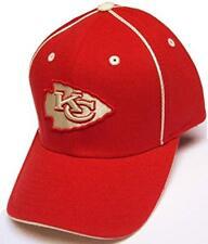 Kansas City Chiefs NFL Team Apparel Hat Cap Red Beige Trim Tonal Logo Flex Fit