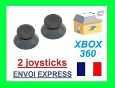 STICK ANALOGIQUE GRIS X2 MANETTE BLANCHE XBOX 360 JOYSTICK NEUF -VENDEUR PRO 24H