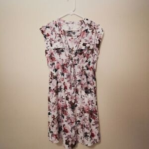 Siren Lily Maternity Floral Midi Dress Womens Size Medium Pink White NWOT