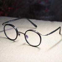 Vintage Round Eyeglasses Frame John Lennon black glasses circle lens eyewear