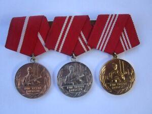 Ordensspange der Kampfgruppe-Zivilverteidigung der DDR in Gold,Silber,Bronze
