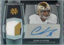 CHASE CLAYPOOL--STEELERS--2020 PANINI OBSIDIAN--ROOKIE AUTO/3 COLOR RELIC--42/99