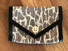Whistles Snakeskin Print Clutch Bag
