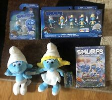 SMURFS The Lost Village Plush's, DVD, Figures BRAND NEW