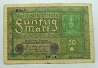KM# 66 - 50 mark 1919 - TTB - Billet Allemagne - N7610