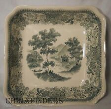 VILLEROY & BOCH china BURGENLAND GREEN pattern Square Serving Bowl @ 8 1/2""