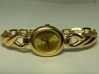 Bucherer Q Swiss Women's Watch Gold Tone- Working