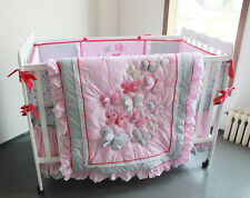 Baby Bedding Crib Cot Sets - Pink Butterfly. Brand New Design (6-Piece)