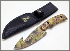 """8"""" OVERALL ELK RIDGE(ER-116) HUNTING/SKINNING KNIFE FULL TANG WITH NYLON SHEATH"""