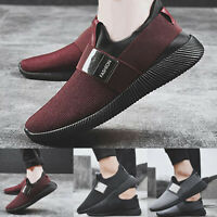 Mens Pumps Mesh Trainers Slip On Sneakers Breathable Shoes Net Running Shoes ILC