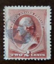 USA STAMP 1883 #210 2 cents , fancy cancell .