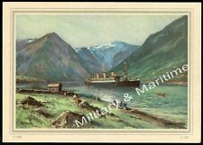 Norway Collectable Steam Ship Postcards
