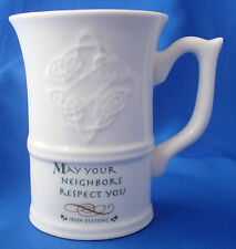 coffee cup mug Irish Blessing May your neighbors respect you Russ Berrie