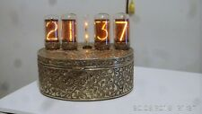"Vintage Style Nixie Electronic Clock with 4 pcs. of ZM1042 ""Jumbo"" Tubes"