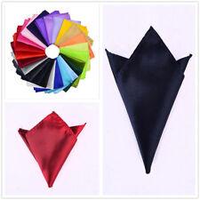 24pcs Handkerchief Pocket Men's Silk Solid Square Hanky Plain Wedding Party Hot