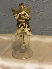 Crystal Bell With Angel On Top With Angel Clacker