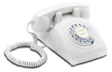 60er Retrotelefon Opis 60s cable weiß mit Deutsche-Post-Logo
