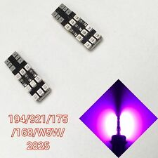 T10 168 194 2825 12961 w5w Purple LED License Plate light Canbus B1 For BMW U