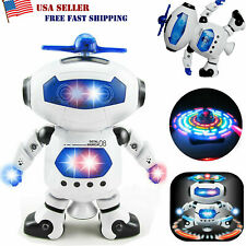Toys for Kids Boys Electric Dancing Robot LED Light Music Child COOL Xmas Gift