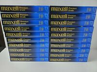 Lot Of 20 Pre-Recorded Maxell Premium Grade VHS Tapes Sold As Used T-120