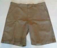 Casuals Roundtree & Yorke Size 46 Tall RELAXED FIT Brown Cotton New Mens Shorts