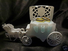 Baby BLUE Wedding RING Bearer Pillow Box Carriage Coach Fairytale