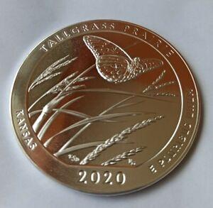 America the Beautiful (ATB) USA 2020 Kansas Tallgras 5 Oz Silber