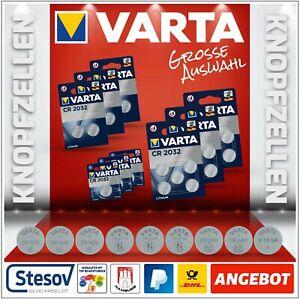 VARTA Knopfzellen CR1620 CR2016  CR2025 CR2032 CR2430 CR2450 Batterien AUSWAHL